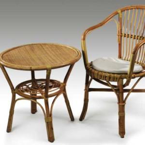 Sedia e Tavolino in Vimini