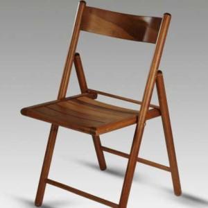 Sedia pieghevole legno