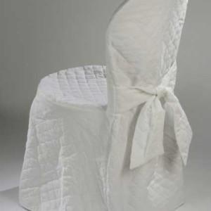 Sedia Bistrot con coprisedia bianco