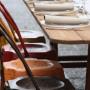 sedia vintage e tavolo country
