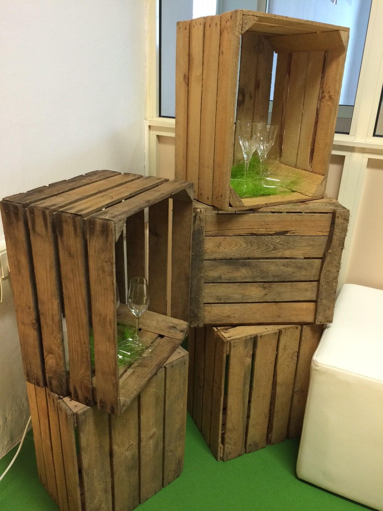 Cassette di legno noleggio attrezzature per catering nesti for Cassette di legno per arredare